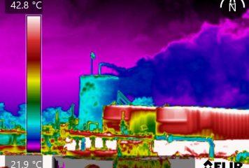 Câmera termográfica Flir detecta vazamentos de gases invisíveis
