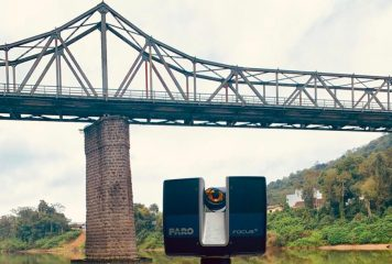 Empresa WRodacki utiliza laser 3D para escanear Ponte de Ferro