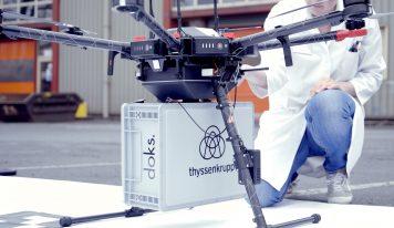 Drone Transporta Amostras Siderúrgicas ao Laboratório