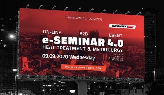 Combustol Fornos convida para a 1° edição do seminário on-line da Seco/Warwick Heat Treatment 4.0